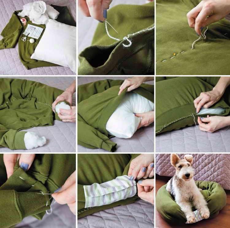 как сделать лежак для собаки своими руками