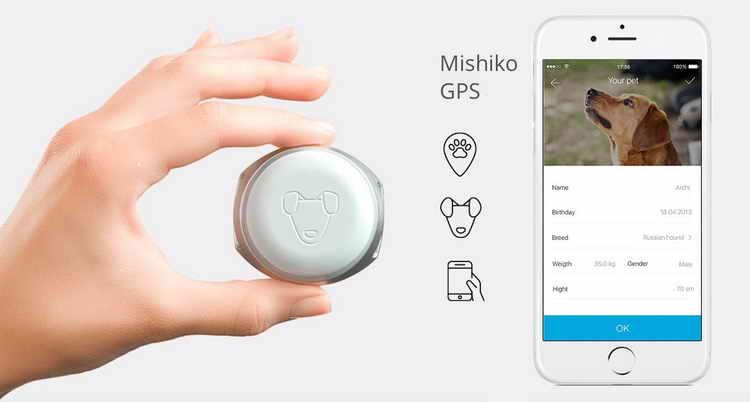 Mishiko ошейник с gps для собак